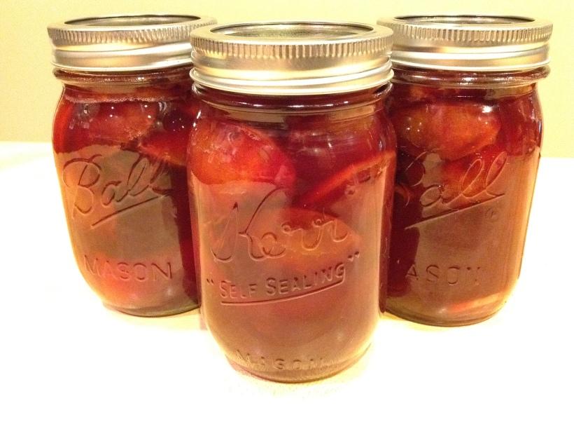 Boozy Plums in Jars